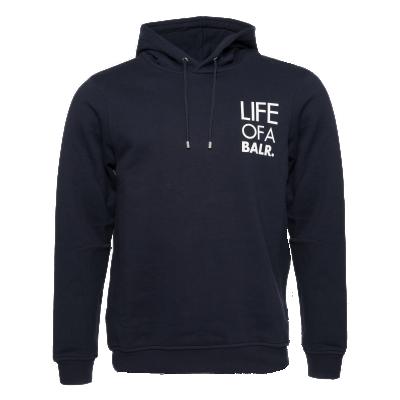 LIFEOFABALR. Logo Hoodie Navy