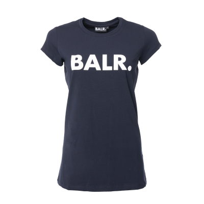Women Brand T-Shirt Marineblauw