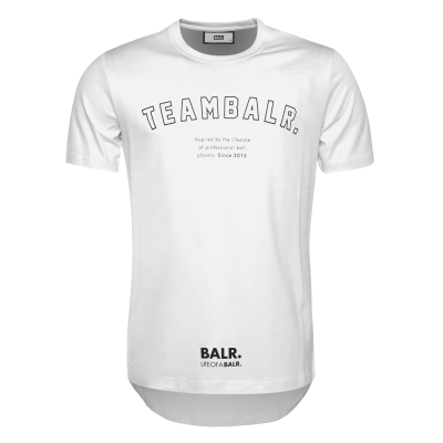 Team BALR. T-Shirt Wit