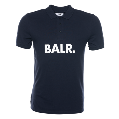 BALR. Big Logo Polo Marineblauw