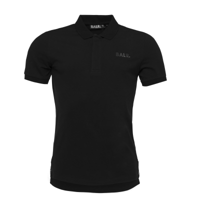 Metal Hexagon Polo Shirt Black