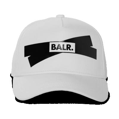 Tape Logo Cap White