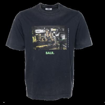 BALR. Tokyo Loose T-shirt donkergrijs