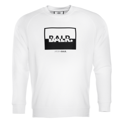 Contrasting Logo Crew Neck Sweater Wit