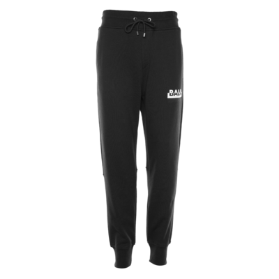 Contrasting Logo Straight Sweatpants Black