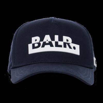 Contrasting Logo Cap Marineblau