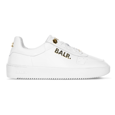 Leather Clean Logo Sneakers Low Blanc/Or