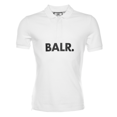 BALR. Big Logo Polo Shirt Wit