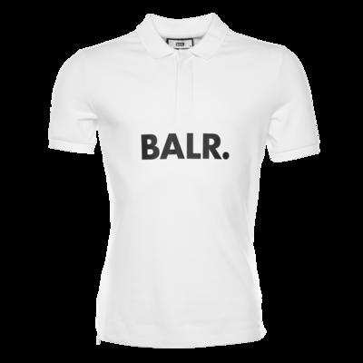 BALR. Big Logo Polo Shirt White