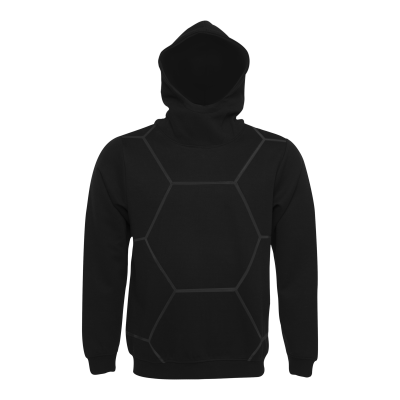 Black on Black All-Over Hoodie