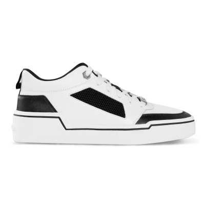 Mesh Panelled Low-Top Sneakers