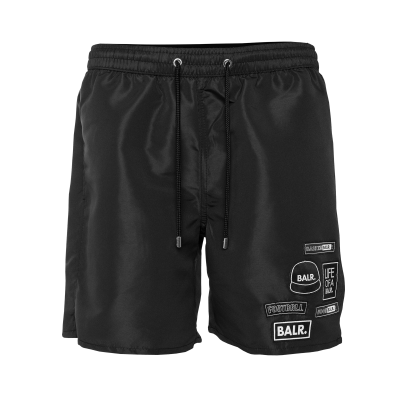 BALR. Badge Swim Shorts Zwart