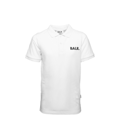 Brand Polo Shirt Kids White