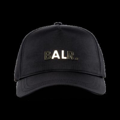 Brand Gold Metal Logo Cap Zwart/Goud