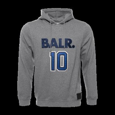 BALR. 10 Varsity Hoodie Grey