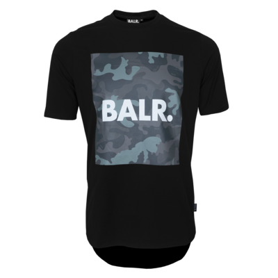 BALR. camo print athletic t-shirt Black
