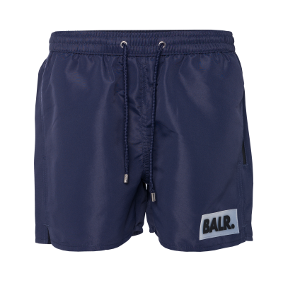 Rubber Box Logo Swim Shorts Marineblauw