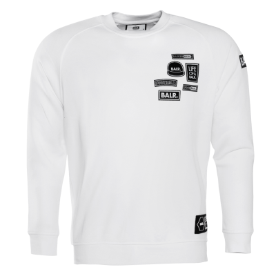 BALR. Badge Crew Neck Sweater Wit