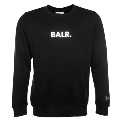 BALR. Embossed Straight Crew Neck Sweatshirt Schwarz