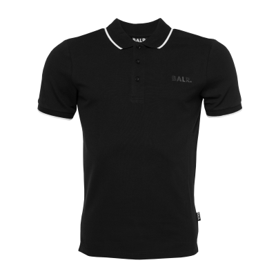 Brand Metal Logo Polo Shirt Black