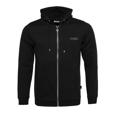 Q-Series Zipped Hoodie Black