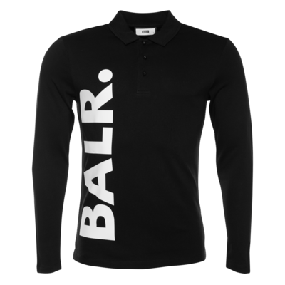 BALR. big logo straight long sleeve polo shirt Zwart