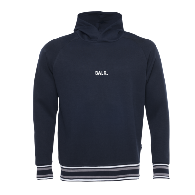 Q-Series Striped Hoodie Navy