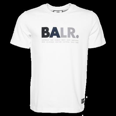 BALR. multi logo straight t-shirt White