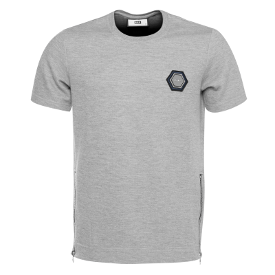 Q-Series Metal Hexagon Badge T-Shirt Grey