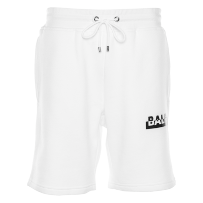 Contrasting Logo Straight Shorts White