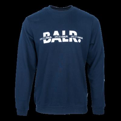 BALR. Crossed LOAB Straight Crew neck Navy
