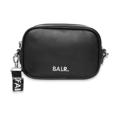 BALR. Silver Logo Shoulder Bag Schwarz