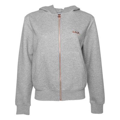 Q-Series Zipped Hoodie Women Grey