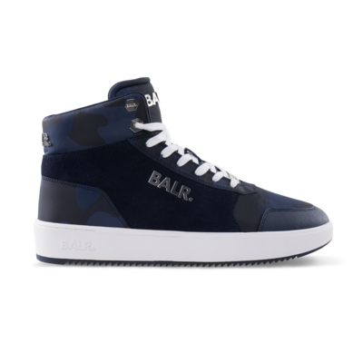 Original Brand Sneakers High Camo Blauw