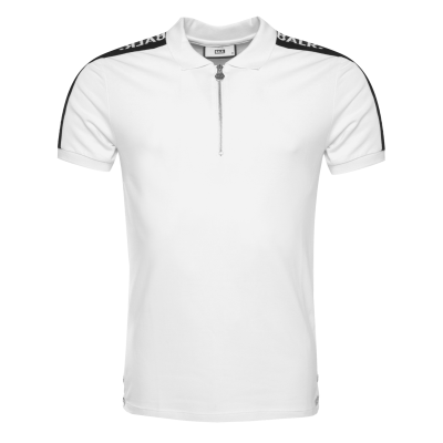 LOAB Webbing-Trimmed Polo Shirt White