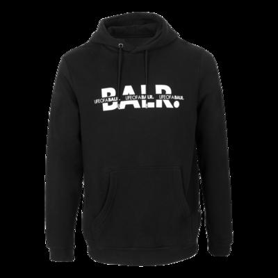 BALR. Crossed LOAB Straight Hoodie Black