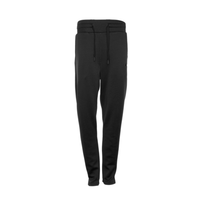 Black metal plate tapered sweatpants Women Noir