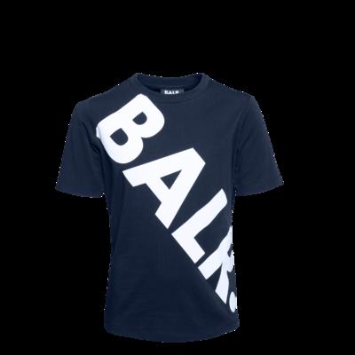 Tilted Logo T-Shirt Kids Bleu Marine