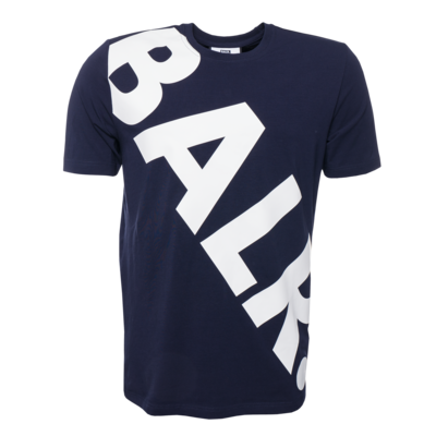 Tilted Logo T-Shirt Navy