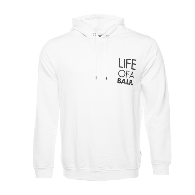 LIFEOFABALR. Logo Hoodie White