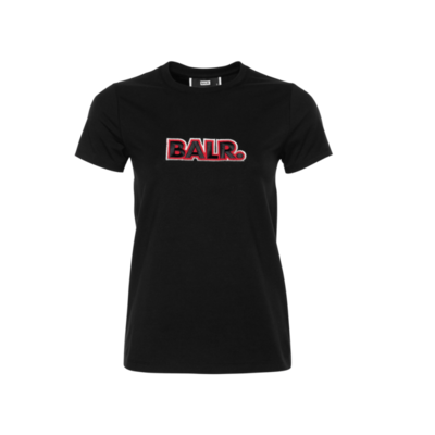 BALR. Embroidered T-Shirt Women Black