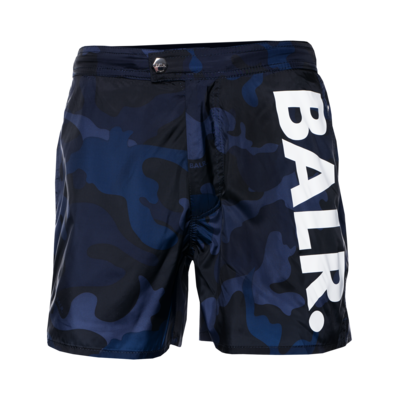 Big Brand Camo Swim Shorts Marineblauw