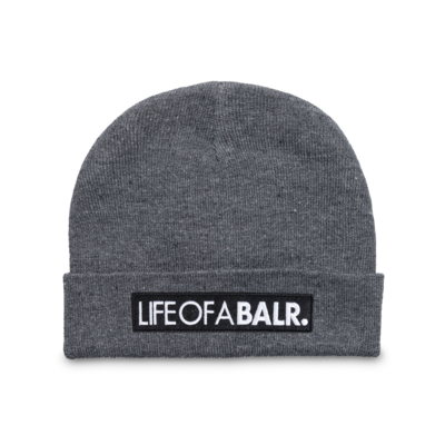 LIFEOFABALR. Big Club Logo Beanie Grau