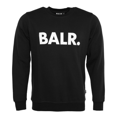 Brand Crew Neck Sweater Zwart