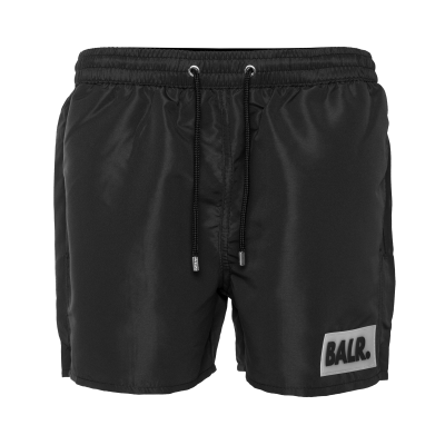 Rubber Box Logo Swim Shorts Zwart