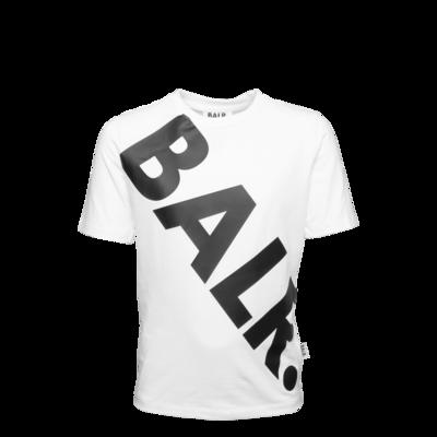 Tilted Logo T-Shirt Kids White