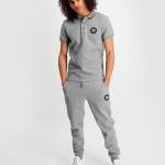 Q-Series Metal Hexagon Badge Sweatpants Grey