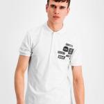BALR. Badge Polo Shirt White