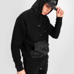 Dark Camo Hoodie Zwart