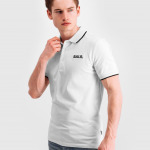 Brand Metal Logo Polo Shirt Wit